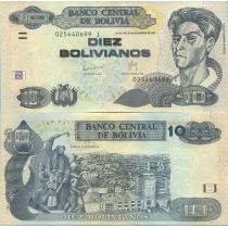 Боливия 10 боливиано 2007 г.
