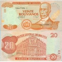 Боливия 20 боливиано 2012 г.