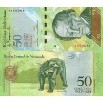 Венесуэла 50 боливар 2012 г.