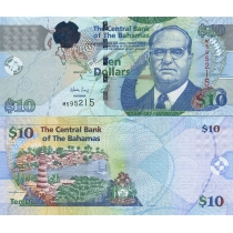 Багамские острова 10 долларов 2009 год.