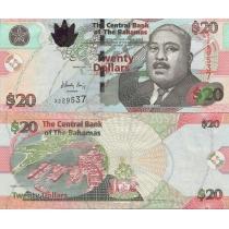 Багамские острова 20 долларов 2010 год.