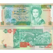 Белиз 1 доллар 1990 год.