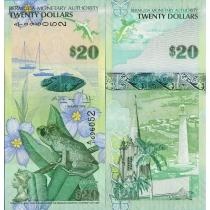 Бермудские острова 20 долларов 2009 г.