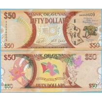 Гайана 50 долларов 2016 год. 50 лет независимости