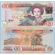 Восточные Карибы 20 долларов 2008 г.
