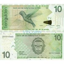 Нидерландские Антилы 10 гульденов 2014 год.
