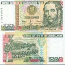 Перу 1000 инти 1988 год.