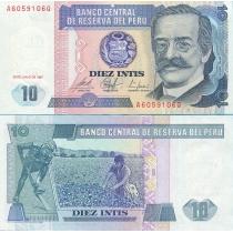 Перу 10 инти 1987 год.