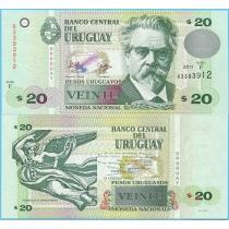 Уругвай 20 песо 2011 год.