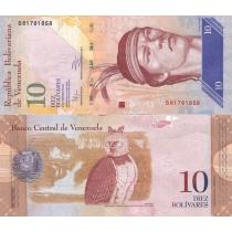 Венесуэла 10 боливар 2011 г.