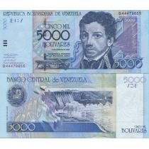 Венесуэла 5000 боливаров 2002 г.
