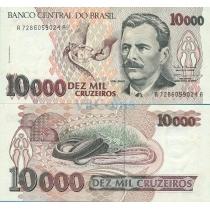 Бразилия 10000 крузейро 1993 г.