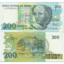 Бразилия 200 крузейро 1990 г.