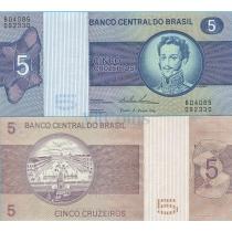 Бразилия 5 крузейро 1974 г.
