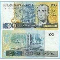 Бразилия 100 крузадо 1987 год.