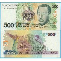 Бразилия 500 крузейро 1990 год.