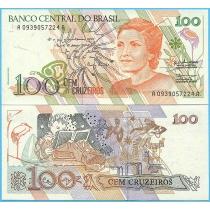 Бразилия 100 крузейро 1990 год.