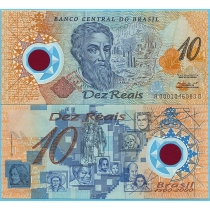 Бразилия 10 реал 2000 год. 500 лет открытия Бразилии.