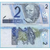 Бразилия 2 реала 2003 год.