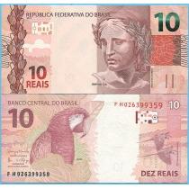 Бразилия 10 реал 2010 год. P-254c