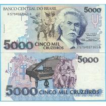 Бразилия 5000 крузейро 1993 год.