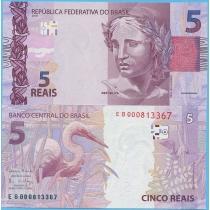 Бразилия 5 реалов 2010 (2015) год.