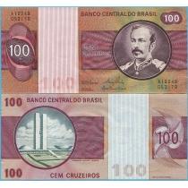 Бразилия 100 крузейро 1981 год.