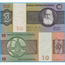 Бразилия 10 крузейро 1980 год.