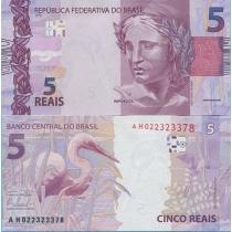 Бразилия 5 реалов 2010 год.