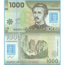 Чили 1000 песо 2010 год.