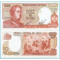 Чили 10000 песо 1974 год.
