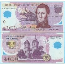 Чили 2000 песо 2004 год.
