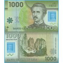 Чили 1000 песо 2014 год.