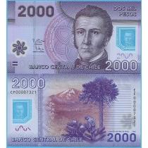 Чили 2000 песо 2012 год.