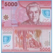 Чили 5000 песо 2013 год.