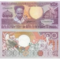 Суринам 100 гульденов 1986 год.