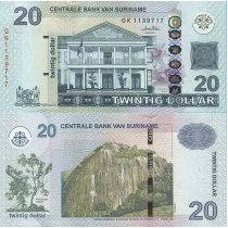 Суринам 20 долларов 2010 г.