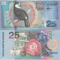Суринам 25 гульденов 2000 г.