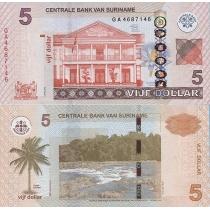Суринам 5 долларов 2012 г.