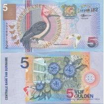 Суринам 5 гульденов 2000 год.