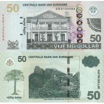 Суринам 50 долларов 2012 г.