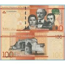 Доминикана 100 песо 2014 год.