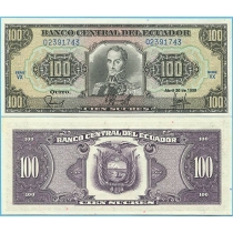 Эквадор 100 сукре 1990 год.