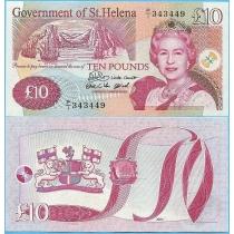 Остров Святой Елены 10 фунтов 2004 год.