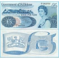 Остров Святой Елены 5 фунтов 1981 год.
