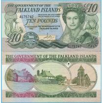 Фолклендские острова 10 фунтов 1986 год.