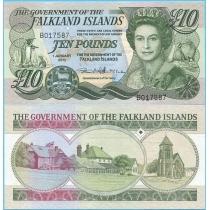 Фолклендские острова 10 фунтов 2011 год.