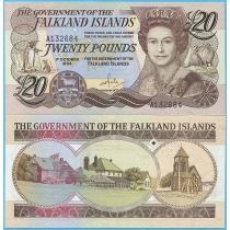 Фолклендские острова 20 фунтов 1984 год.