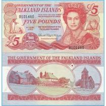 Фолклендские острова 5 фунтов 2005 год.