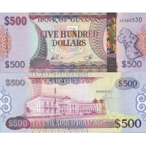 Гайана 500 долларов 2011 год.